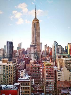 Empire State Building Amidst Modern Art Print by Matteo De Santis / Eyeem