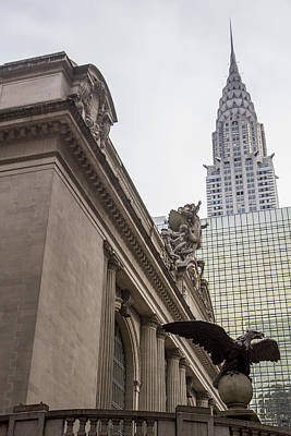 Photograph - Empire State Building And Grand Central Station by For Ninety One Days