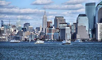Photograph - Empire State Building And Manhattan Skyline by Dan Sproul
