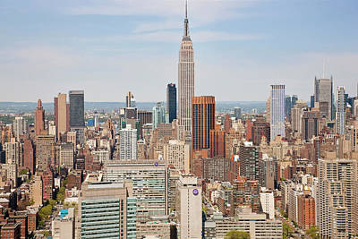 Empire State Photograph - Empire State Building And Skyline by Peter Adams