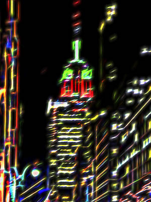 Photograph - Empire State Building At Christmas by Marianne Campolongo