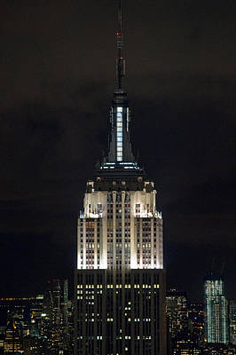 Photograph - Empire State Building At Night by Gary Eason