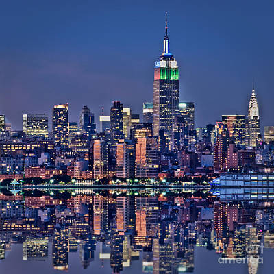 Cities Royalty-Free and Rights-Managed Images - Empire State Building by Delphimages Photo Creations