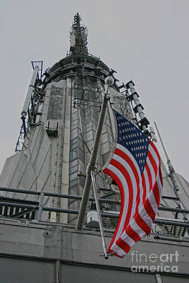 Photograph - Empire State Building Flag by D Wallace
