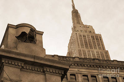 New York City Photograph - Empire State Building From Herald Square Vintage by RicardMN Photography