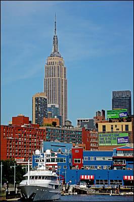 Empire State Building From Hudson River Original by Allan Einhorn