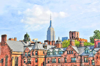 Empire State Building From The High Line Art Print by Randy Aveille