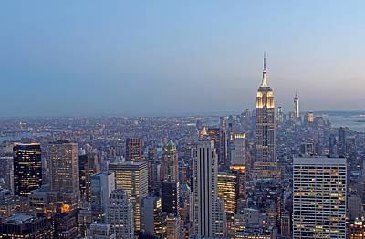 Empire State Building In Midtown Manhattan Art Print by Juergen Roth
