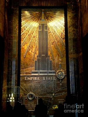 Empire State Building - Magnificent Lobby Art Print by Miriam Danar