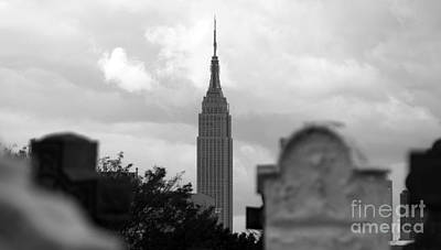 Photograph - Empire State Building Seen From Calvary Cemetery In Queens by Mark Thomas