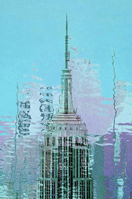 Photograph - Empire State Building Spire Close Up by Az Jackson