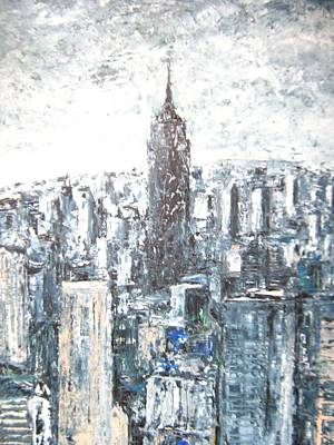 Empire State Building Drawing - Empire State Building by Thomas  Harutunyan