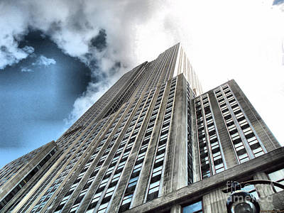 Photograph - Empire State Building - Vertigo In Reverse by Luther Fine Art