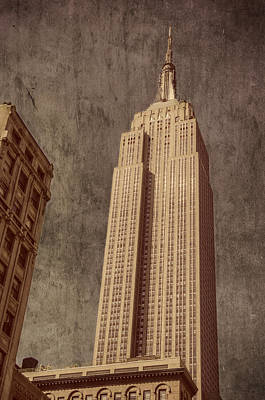 Art Print featuring the photograph Empire State Building Vintage by Chris McKenna