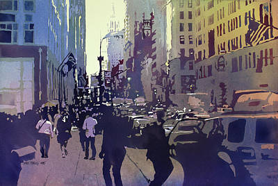 Crowds Painting - Empire State by Kris Parins