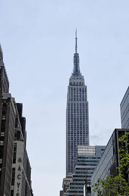 Nyc Digital Art - Empire State - New York City by Bill Cannon