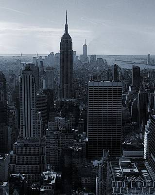 Skylines Mixed Media - Empire State Of Mind by Dan Sproul