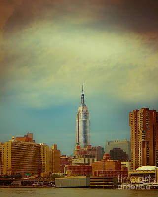 Empire State Building Photograph - Empire State Of Mind In Technocolor by Ken Marsh