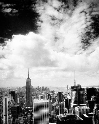 Photograph - Empire State Skyline Ir V by Dave Beckerman