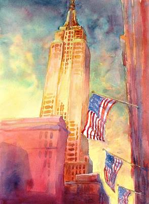 Building Painting - Empire State by Virgil Carter