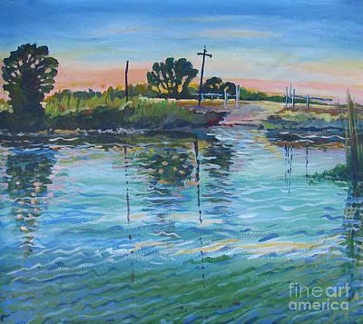 Stockton Painting - Empire Tract Ferry by Vanessa Hadady BFA MA