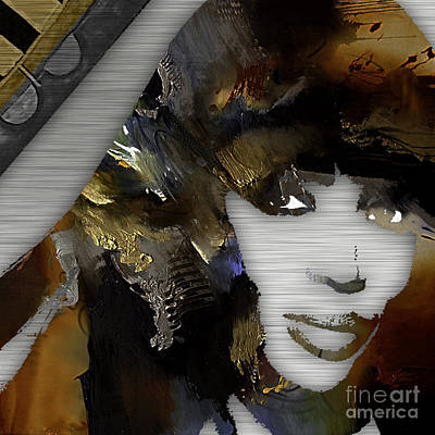 Mixed Media - Empires Naomi Campbell Camilla by Marvin BlaineEmpires Naomi Campbell Camilla