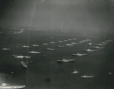 Empire�s Warships Line Up For The Coronation Review At Art Print by Retro Images Archive