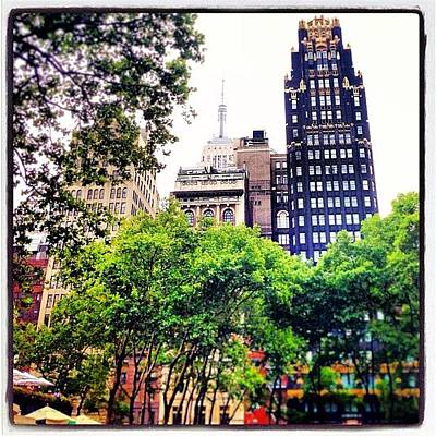 Classical Photograph - #empirestatebuilding #view #street by Miguel Grullon