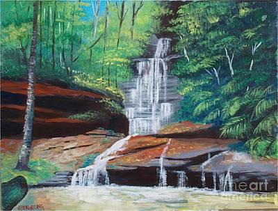 Painting - Empress Falls Australia by Jean Pierre Bergoeing