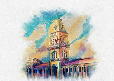 Painting - Empress Market Karachi by Catf