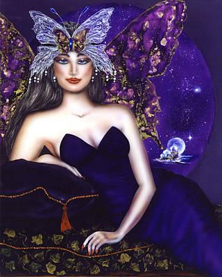 Regeneration Painting - Empress Of The Crystal City Of Light by Ilene Satala