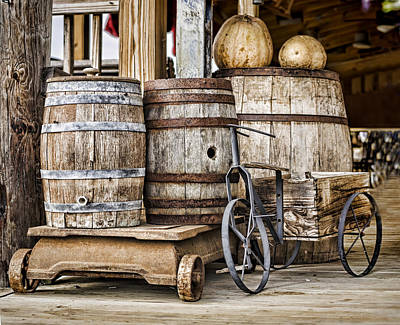 Old Barrels Photograph - Emptied Barrels by Heather Applegate