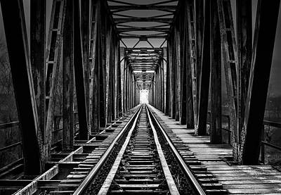 Train Tracks Photograph - Emptiness by Catalin Alexandru