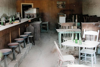 Stools And Counter Photograph - Empty Bar At A Ghost Town by Celso Diniz