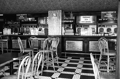 Empty Quarter Photograph - Empty Bar On Bourbon Mono by John Rizzuto