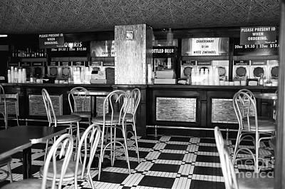 Photograph - Empty Bar On Bourbon Mono by John Rizzuto