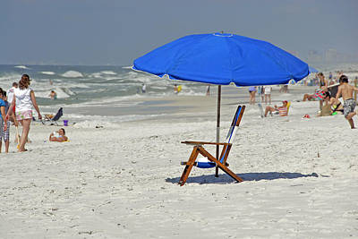 Photograph - Empty Beach Chair by Charles Beeler