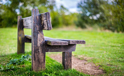 Photograph - Empty Bench by Gary Gillette