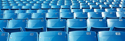Empty Blue Seats In A Stadium, Soldier Art Print