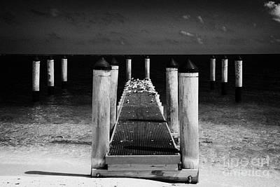 Empty Boat Pier With Seabirds Dry Tortugas Florida Keys Usa Art Print by Joe Fox