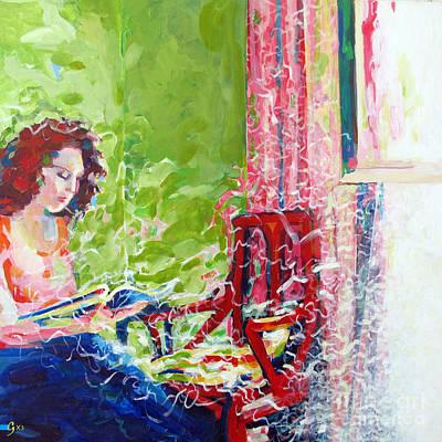 Empty Chair Art Print by Gilat Gur-arie greenberg
