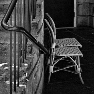 Photograph - Empty Chairs by Dale Stillman