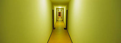 Empty Corridor Of A Building Art Print by Panoramic Images