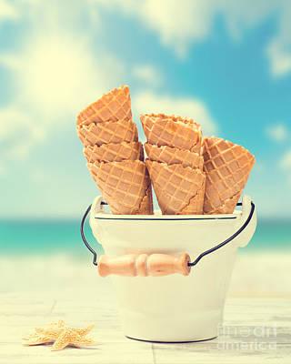Photograph - Empty Ice Cream Cones by Amanda Elwell