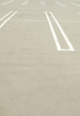 Photograph - Empty Parking Lot Spaces by Pete Starman