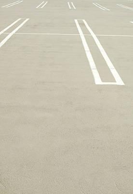 Photograph - Empty Parking Lot Spaces by Pete Starman