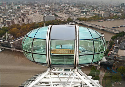 Photograph - Empty Pod  London Eye by Liz Leyden
