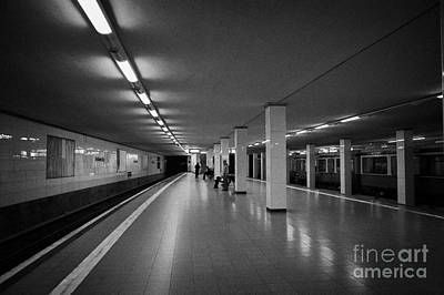 empty Potsdamer Platz s-bahn station Berlin Germany Art Print