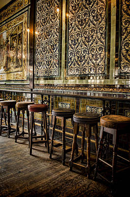 Empty Pub Art Print by Heather Applegate