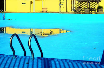 Empty Public Swimming Pool Bronx New York City Art Print by Sabine Jacobs